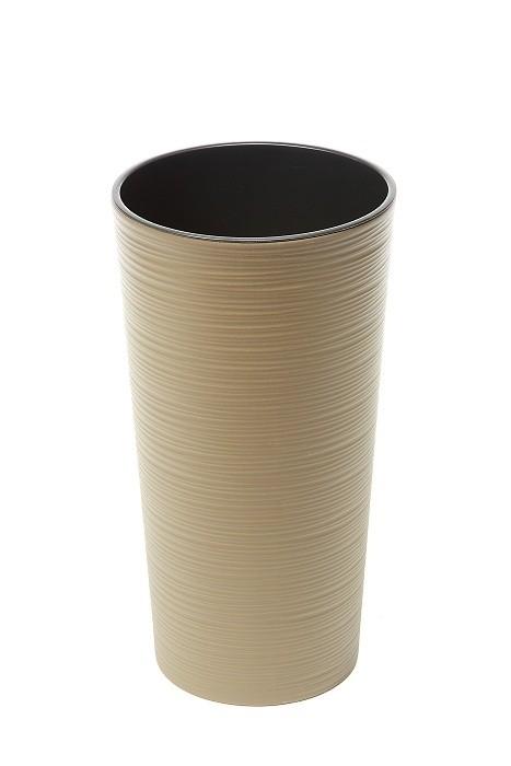 Plastový květináč Lilia vroubek 570mm Barva: světle hnědá