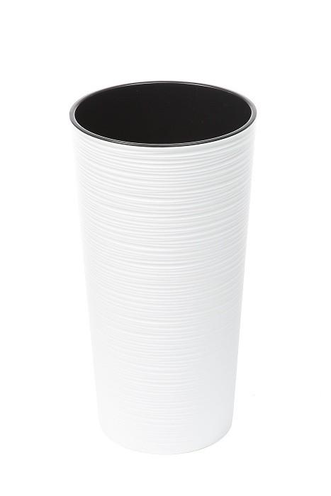 Plastový květináč Lilia vroubek 465mm Barva: bílá