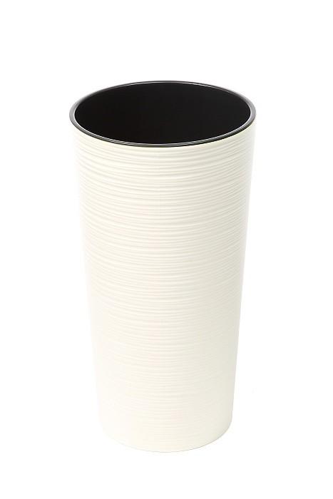 Plastový květináč Lilia vroubek 465mm Barva: krémová