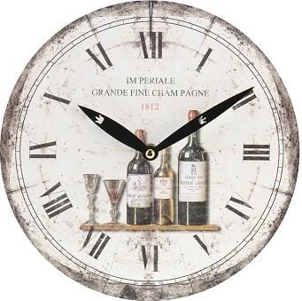 Hodiny víno 24cm Provedení: A