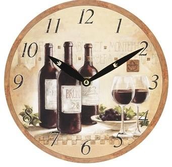 Harasim Hodiny víno 24cm Provedení: B