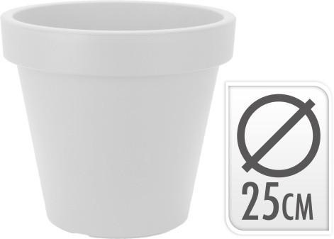 Květináč plastový bílý Velikost: menší