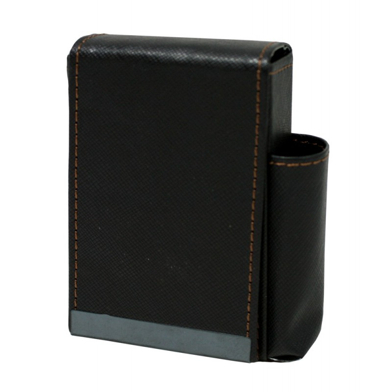 Pouzdro na cigarety kožené 10x7x4cm Barva: černá
