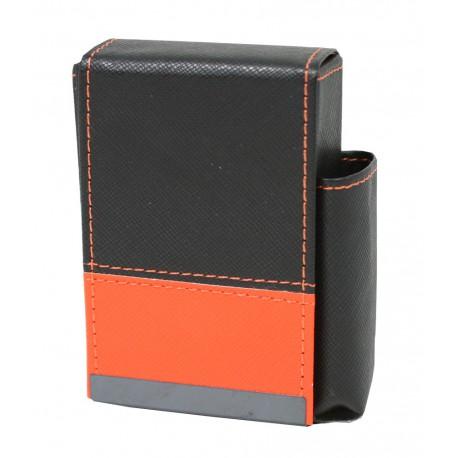 Pouzdro na cigarety kožené 10x7x4cm Barva: oranžová