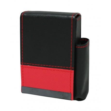 Pouzdro na cigarety kožené 10x7x4cm Barva: červená