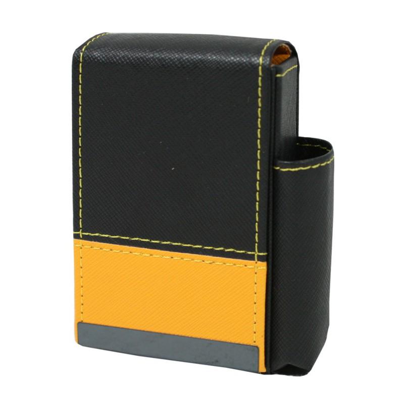 Pouzdro na cigarety kožené 10x7x4cm Barva: žlutá