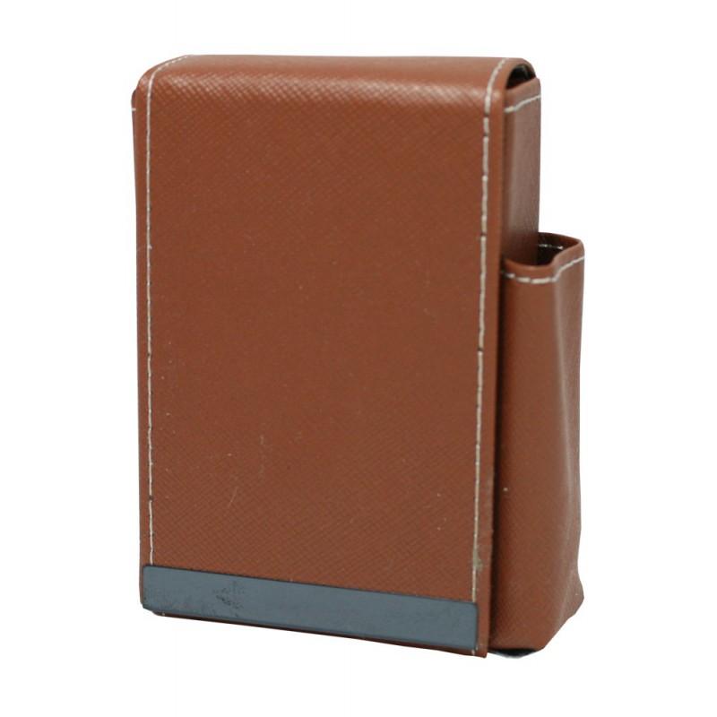 Pouzdro na cigarety kožené 10x7x4cm Barva: hnědá
