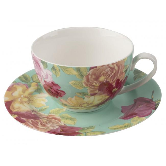 Creative Tops Šálek s podšálkem Southbourne Rose Barva: tyrkysová