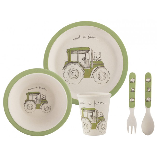 Creative Tops Dětský jídelní set 5ks Barva: zelená