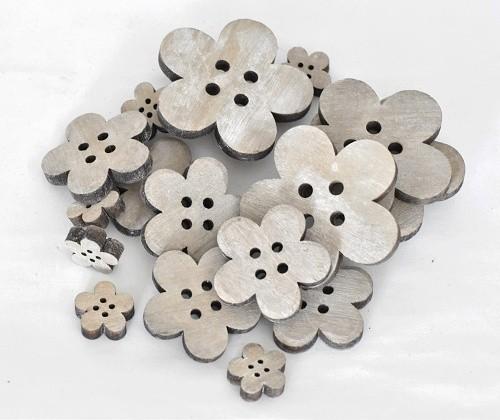 Harasim Dřevěné květinky set 20ks Barva: šedá