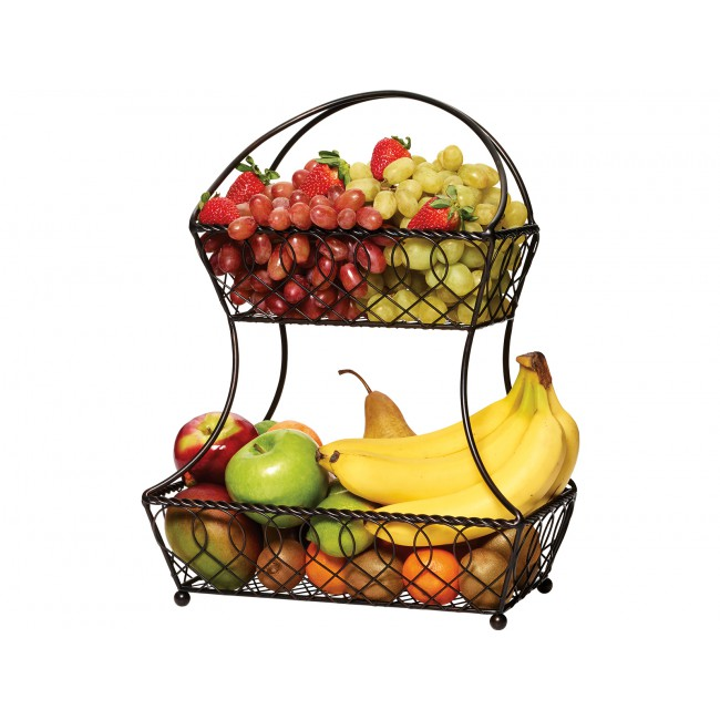 Creative Tops Dvoupatrový drátěný koš na ovoce a zeleninu Mikasa
