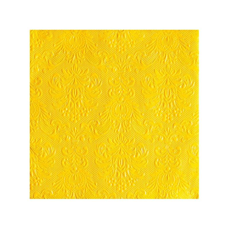 Papírové ubrousky Elegance žlutá 15ks Barva: žlutá