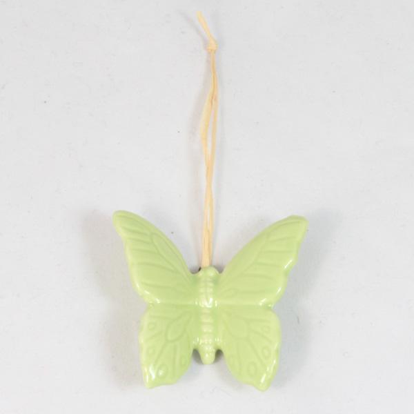 Casa de Engel Keramický motýlek závěs zelený 4cm
