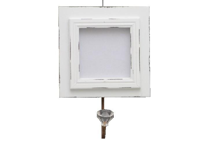 Věšák s fotorámečkem 14x14cm