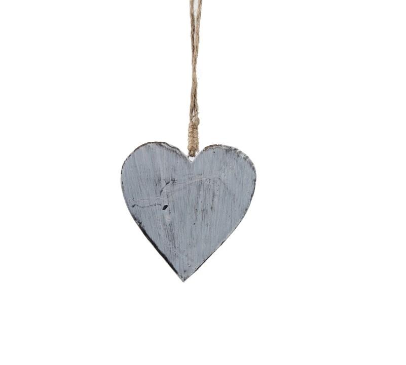 Srdce závěsné dřevo 12x3x12cm