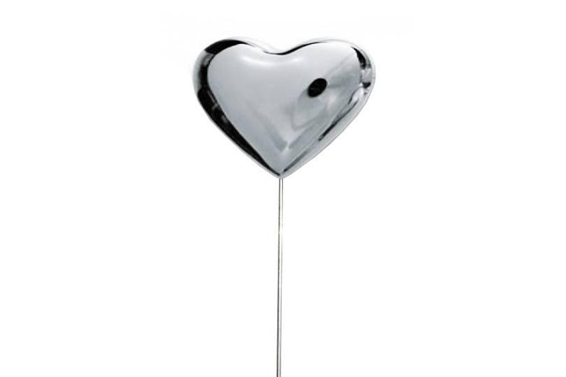 Zápich kovové srdce Velikost: střední