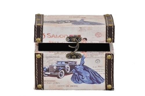Dřevěná truhla kufřík 11x11x14cm Provedení: A