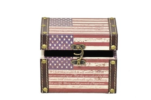 Dřevěná truhla kufřík 11x11x14cm Provedení: C