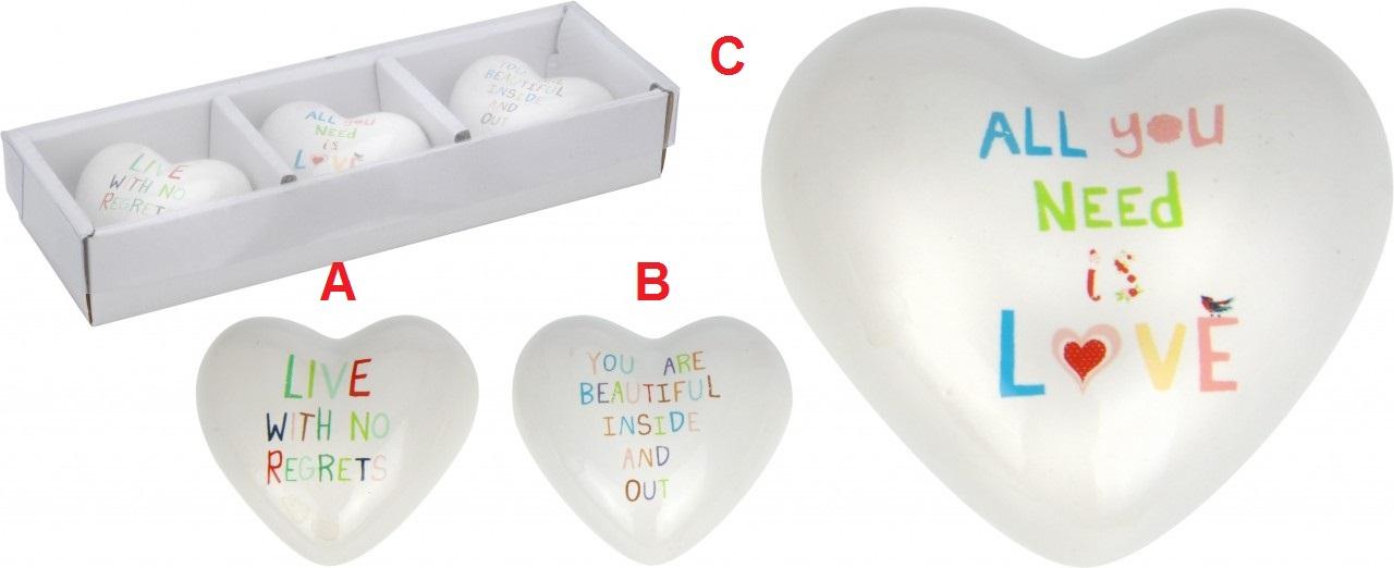 Srdce s nápisem porcelán Provedení: A