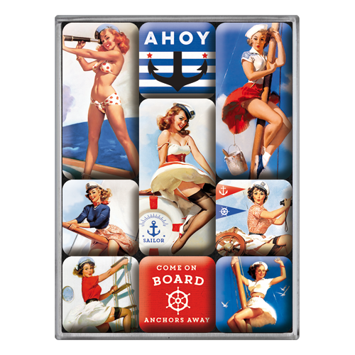 Nostalgic Art Magnetky na ledničku Ahoy Sailor