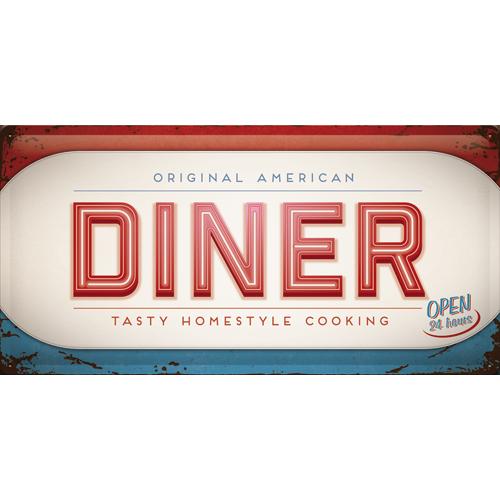 Nostalgic Art Plechová cedule Original American Diner Rozměry: 25x50cm