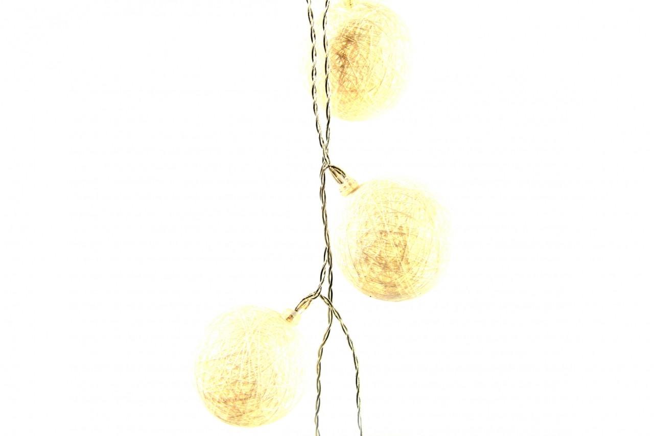 LED světelná girlanda koule 175cm