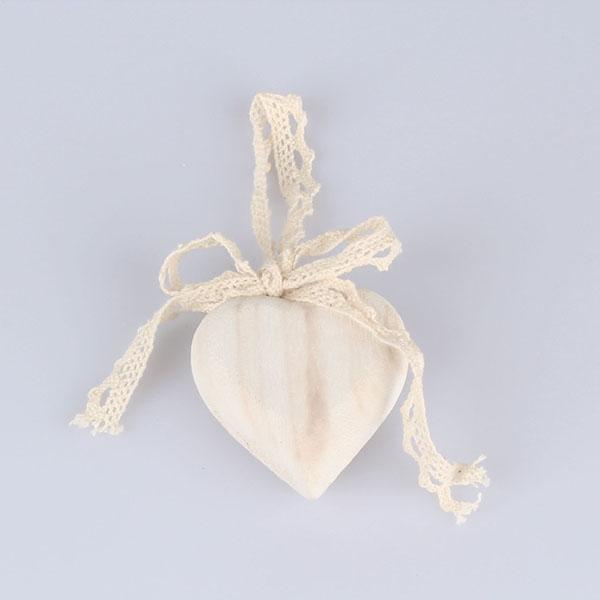 Casa de Engel Dřevěné srdce s mašlí 6 x 6cm