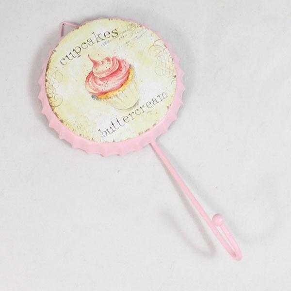 Věšák na zeď Cupcakes buttercream růžový