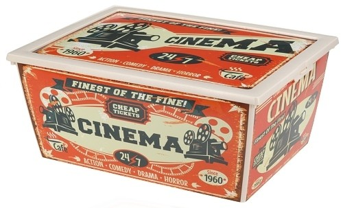 Úložný plastový box vintage 15l Provedení: B