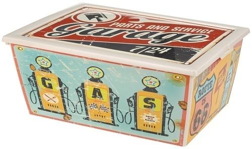 Úložný plastový box vintage 15l Provedení: A