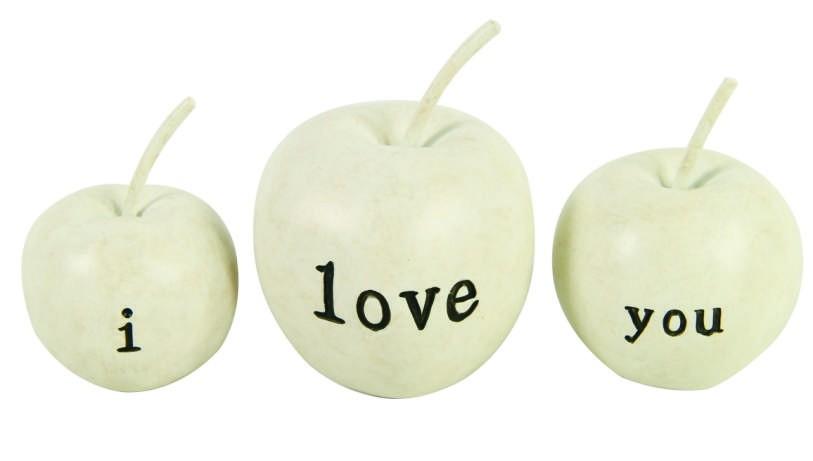 Dekorace jablka 3ks