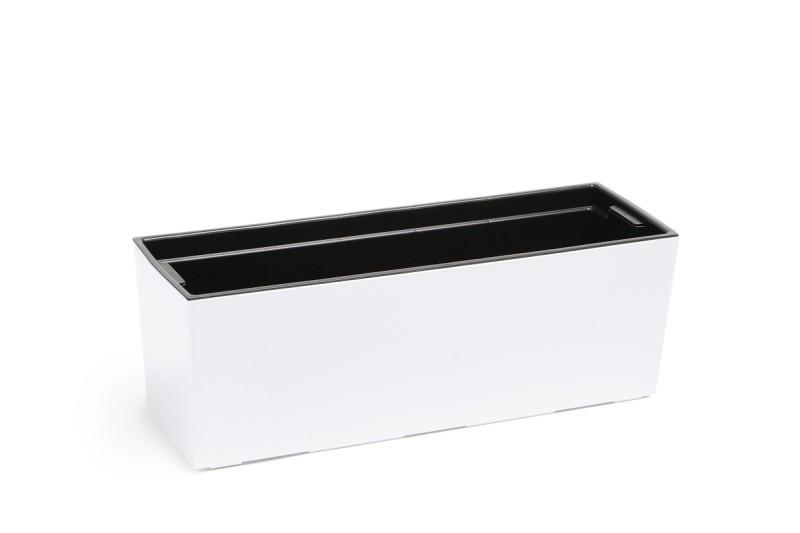 Plastový truhlík Begonie lesklý 19x56cm Barva: bílá
