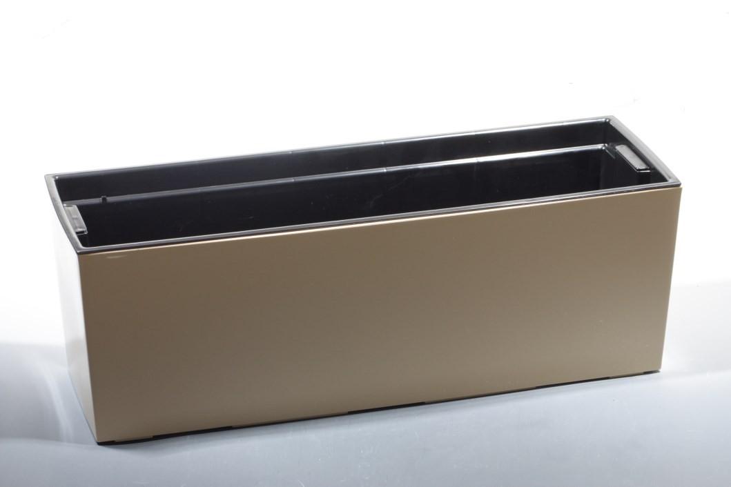 Plastový truhlík Begonie lesklý 19x56cm Barva: bežová