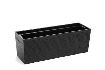 Plastový truhlík Begonie vroubek 19x56cm Barva: černá