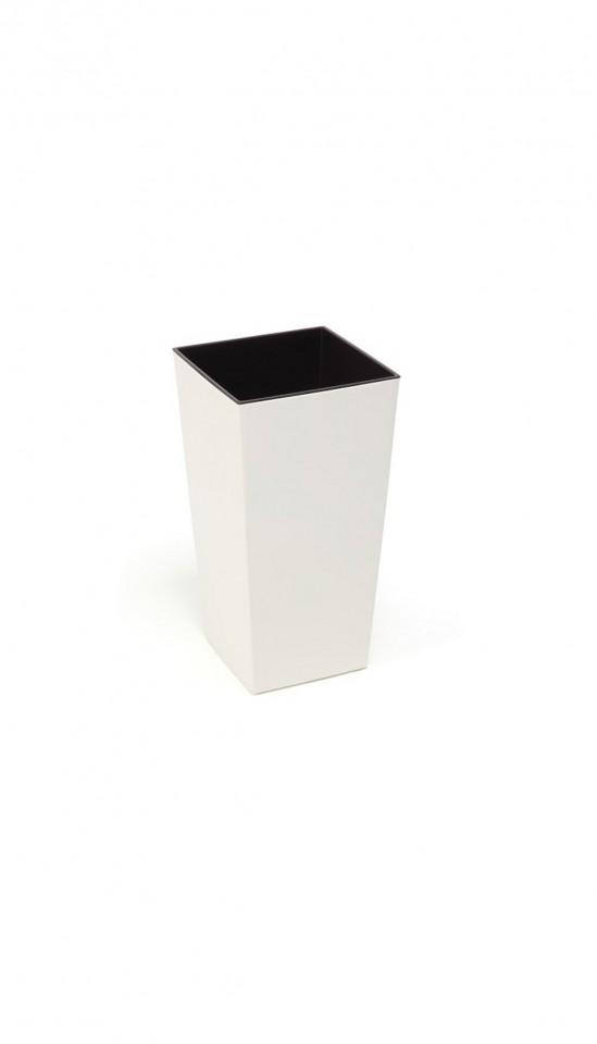 Plastový květináč Finezia lesklý 26cm Barva: smetanová