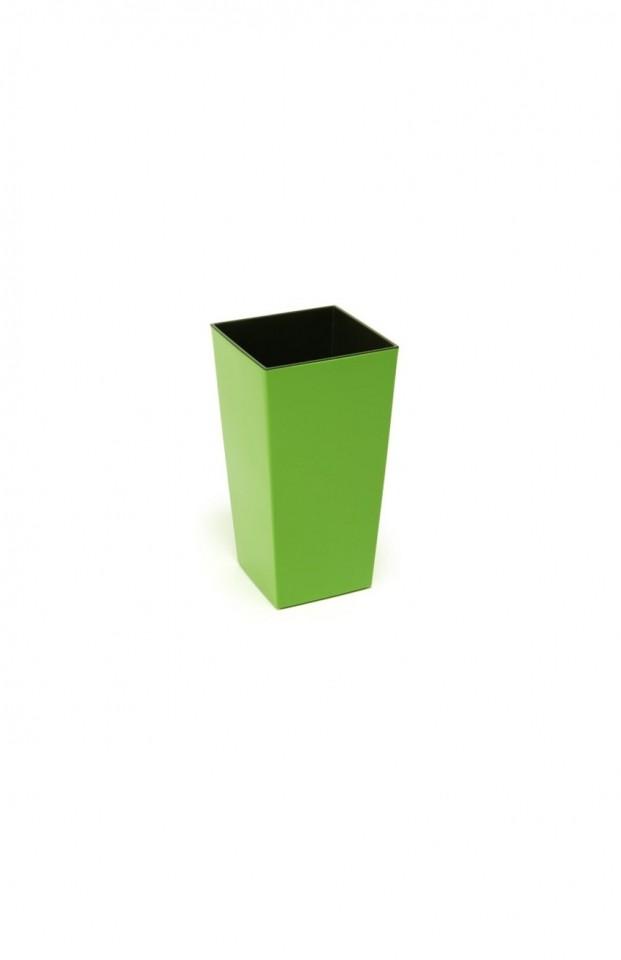 Plastový květináč Finezia lesklý 26cm Barva: zelená