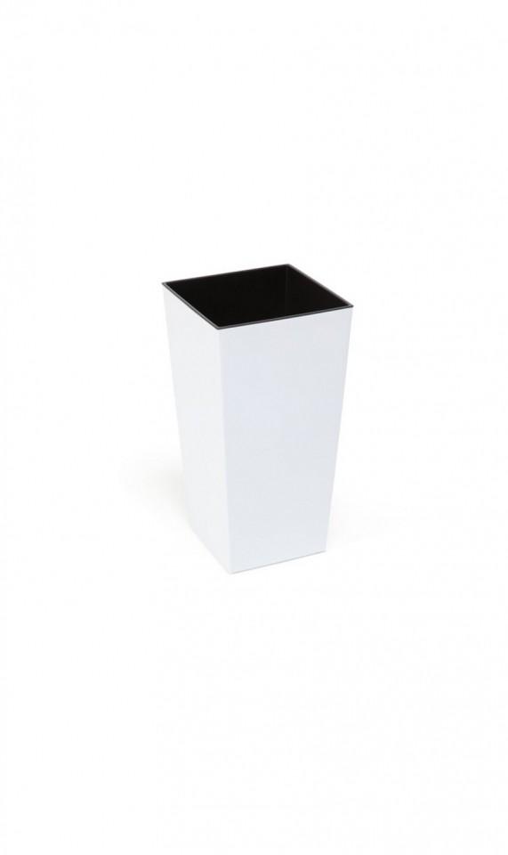 HR Plastový květináč Finezia lesklý 26cm Barva: bílá