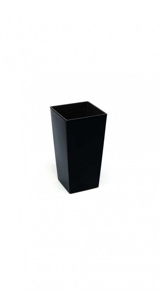 HR Plastový květináč Finezia lesklý 26cm Barva: černá