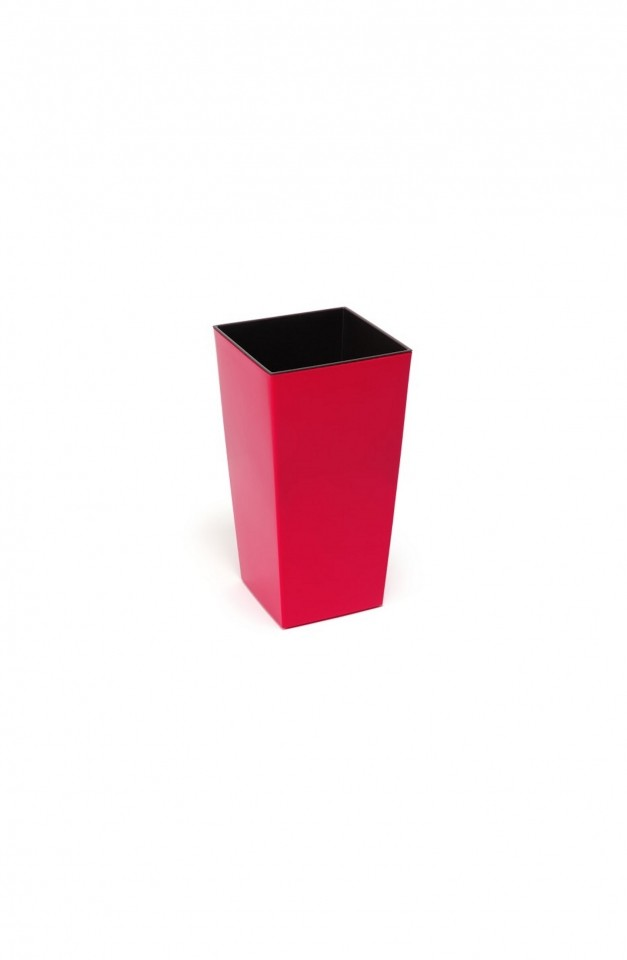 HR Plastový květináč Finezia lesklý 26cm Barva: červená
