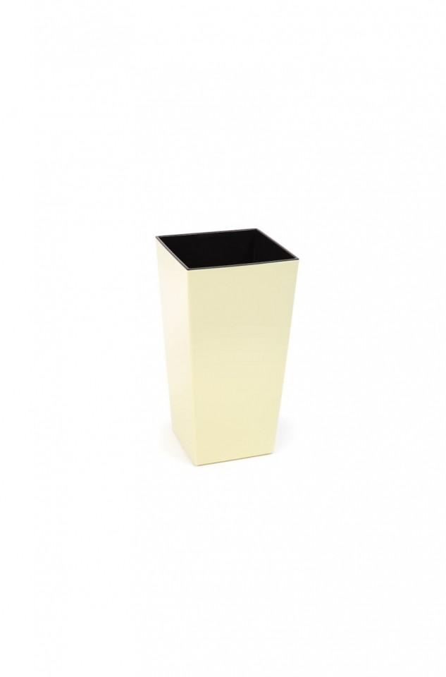 Plastový květináč Finezia lesklý 26cm Barva: krémová