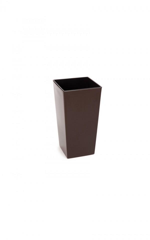 HR Plastový květináč Finezia lesklý 26cm Barva: hnědá