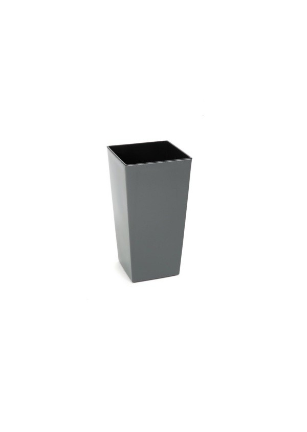 HR Plastový květináč Finezia lesklý 26cm Barva: šedá