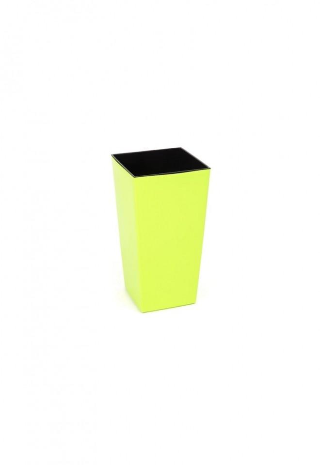 Harasim Plastový květináč Finezia lesklý 26cm Barva: žluto-zelená