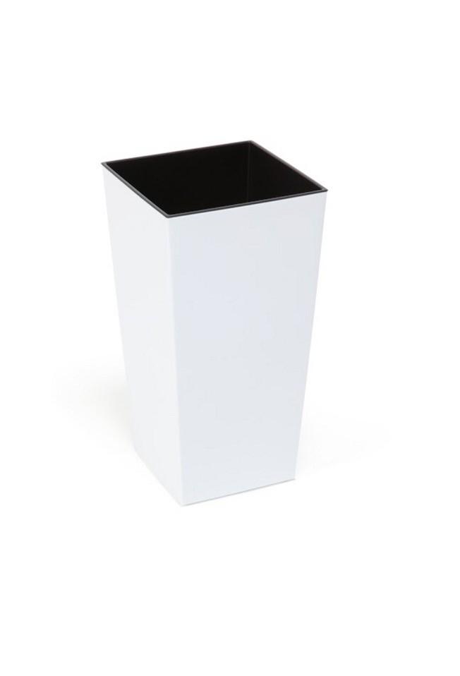 Plastový květináč Finezia lesklý 37cm Barva: bílá