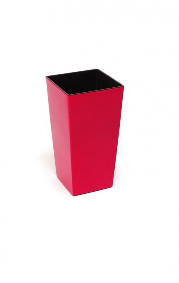 Plastový květináč Finezia lesklý 37cm Barva: červená