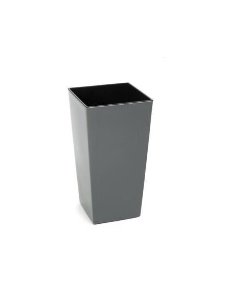 Plastový květináč Finezia lesklý 37cm Barva: šedá