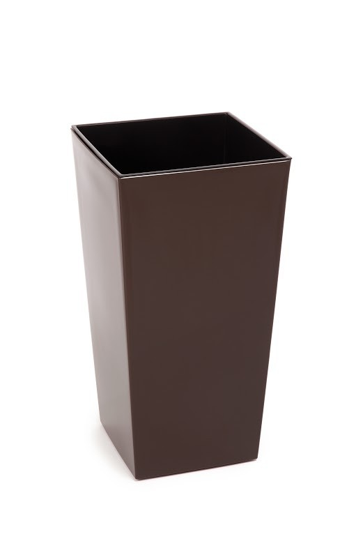 Plastový květináč Finezia lesklý 47cm Barva: hnědá