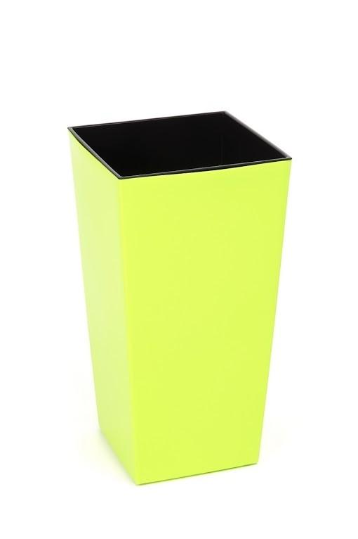 HR Plastový květináč Finezia lesklý 47cm Barva: žluto-zelená