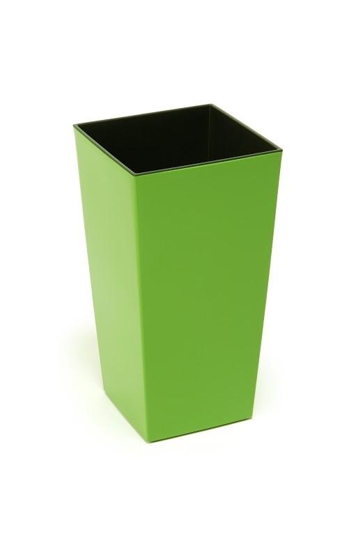 Plastový květináč Finezia lesklý 47cm Barva: zelená