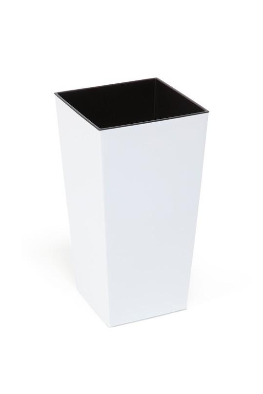 Plastový květináč Finezia lesklý 47cm Barva: bílá